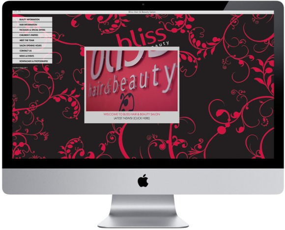 Bliss Salon Website