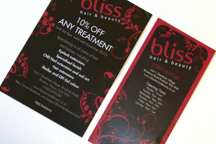 Bliss Flyer and Price Leaflet