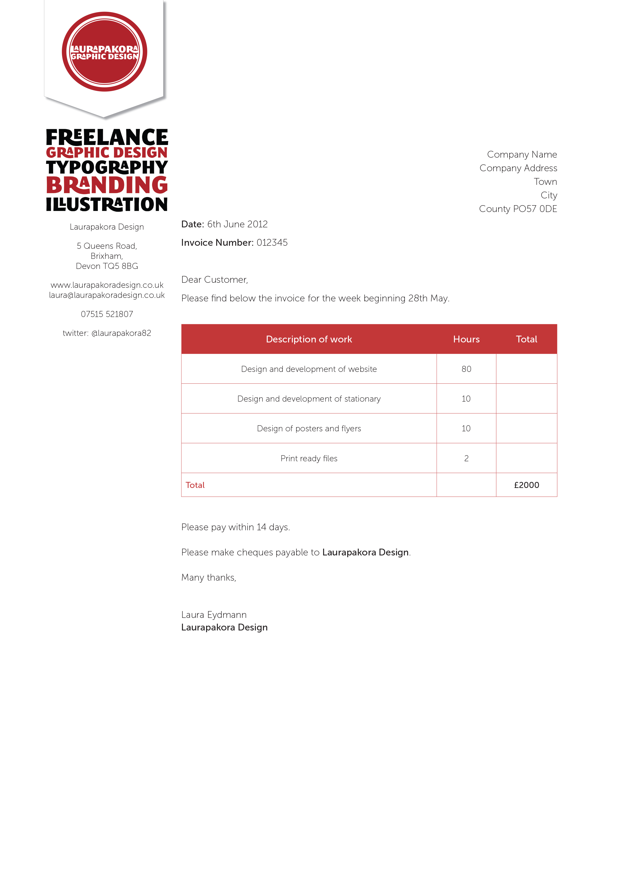 graphic design invoice, Invoice templates