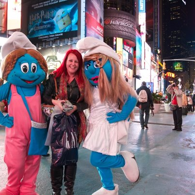 Me and the smurfs...