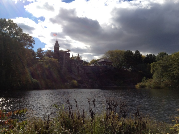 The Belvedere Castle and Lake, in the Autumn sun