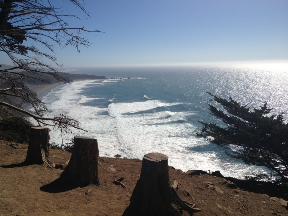 An amazing Vista Point, a few miles from Big Sur