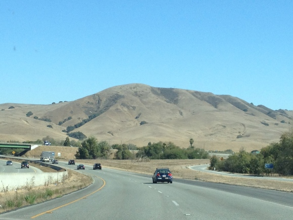 Driving through the hills