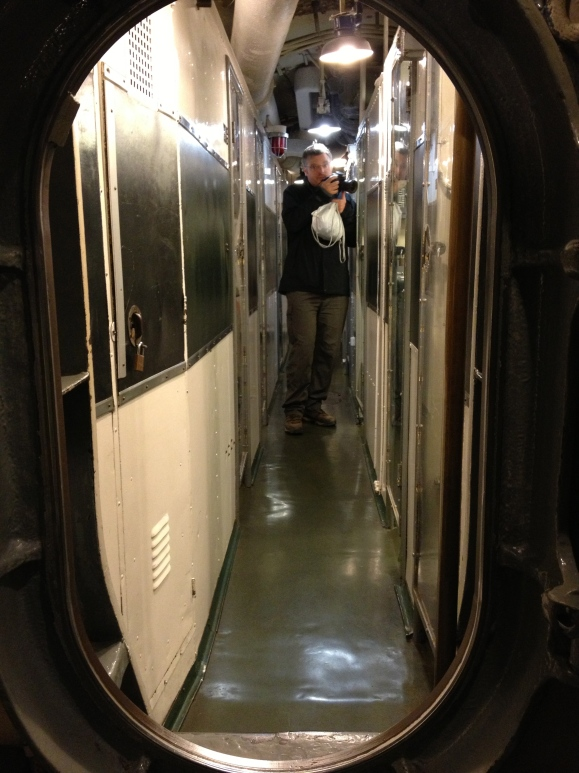 The claustrophobic below decks of the sub