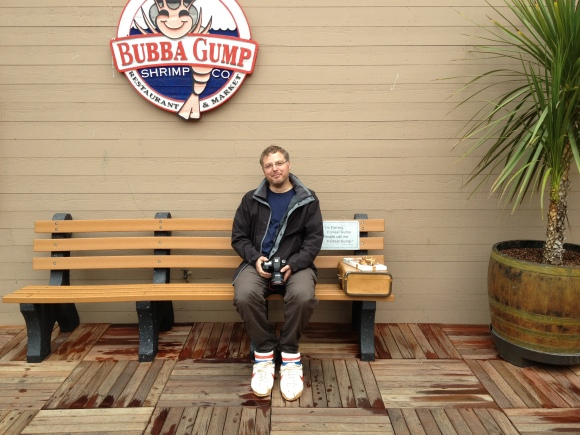 Gareth as Forrest at Bubba Gump's...
