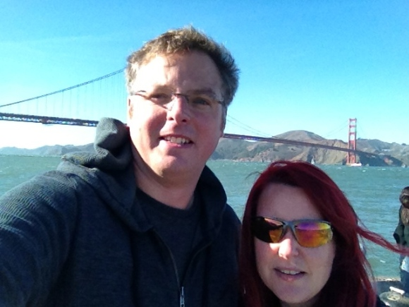 Me and Gareth in front of the Golden Gate Bridge