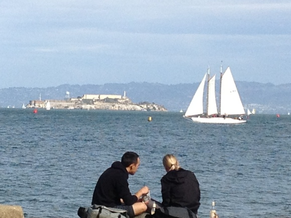 Sailing in front of Alcatraz