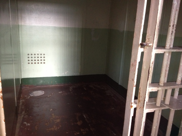 The solitary confinement block. Chilling...
