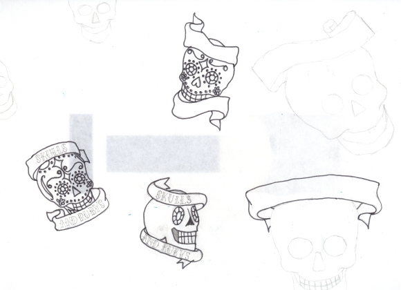 Skulls and Rubys Draft Sketches