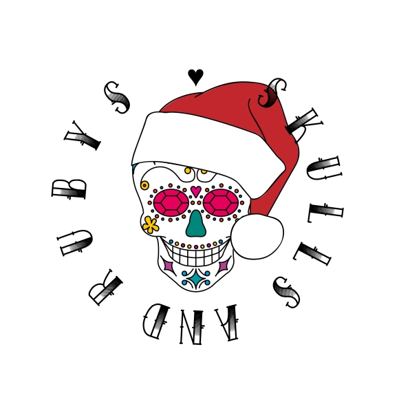Skulls and Rubys Christmas Logo