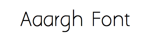 Aaargh font