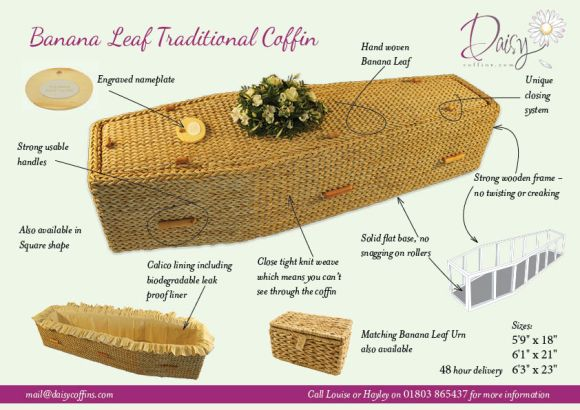 Banana Leaf Coffin Details