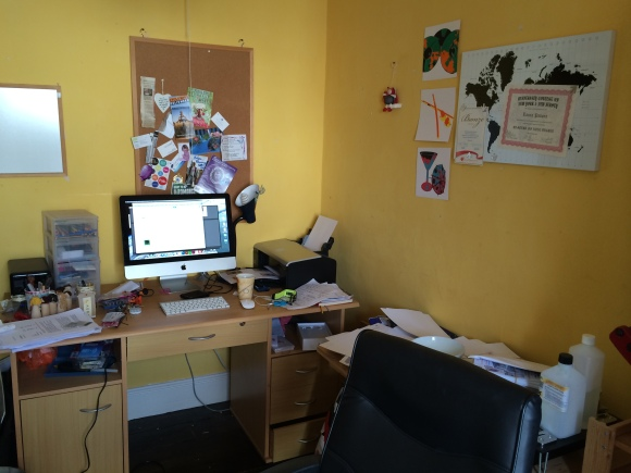 My desks...full of rubbish and unfilled paperwork