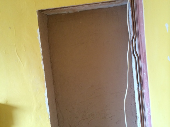 Plastered alcove